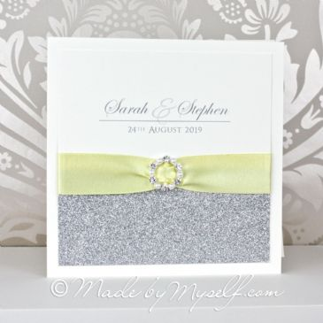 Elegance Glitter Wedding Invitation - Card Style